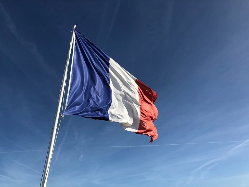 French flag from French Dining Night