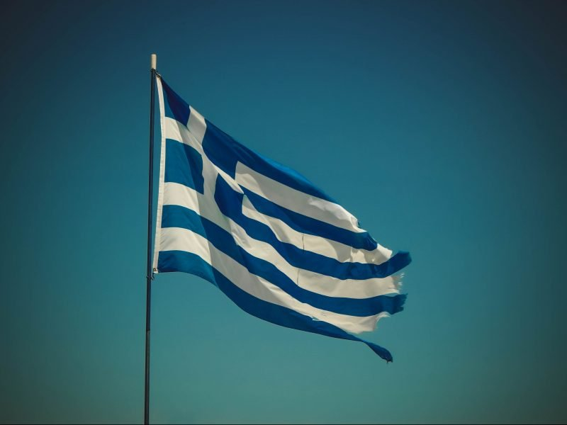 Greek flag for Greek Dining Night