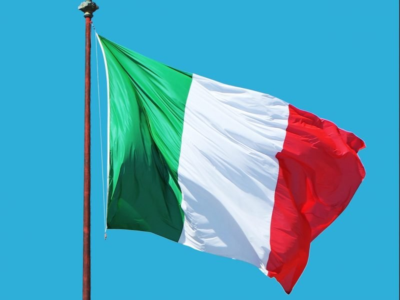 Italian Flag for Italian Dining Night